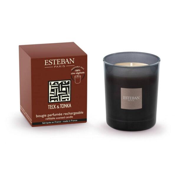 Esteban-Geurkaars-teck-tonka-170gr-1