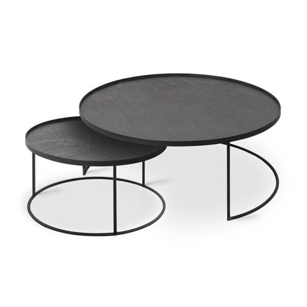 Ethnicraft-Round-tray-coffee-table-set-L-XL-1