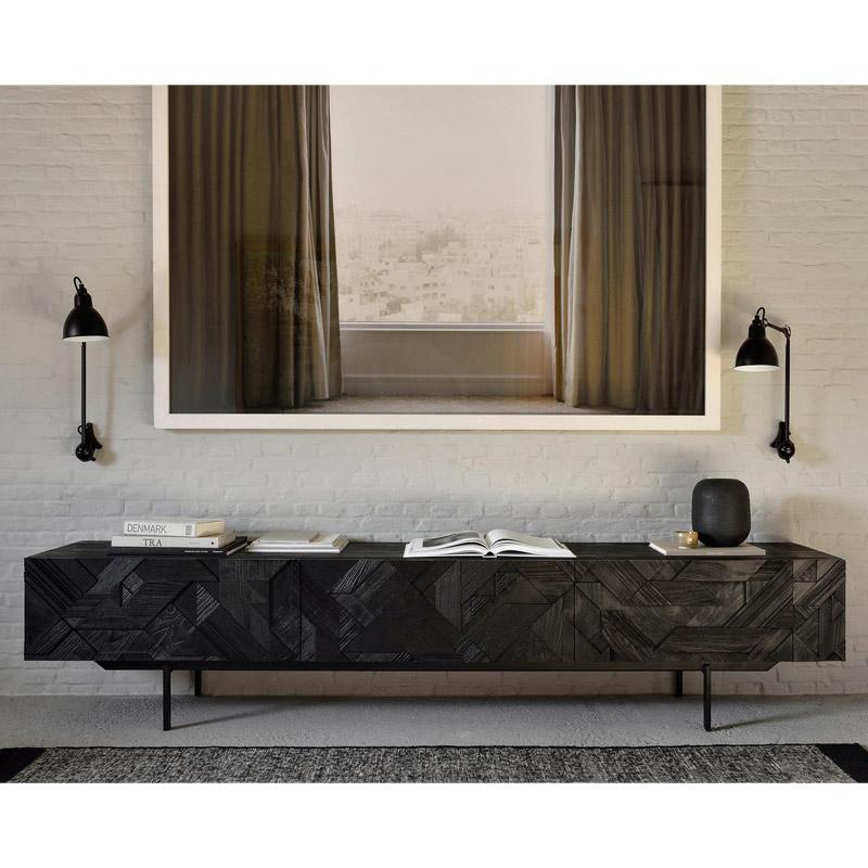 Ethnicraft-Teak-Graphic-tv-meubel-240cm-4