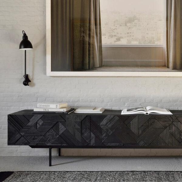 Ethnicraft-Teak-Graphic-tv-meubel-240cm-5