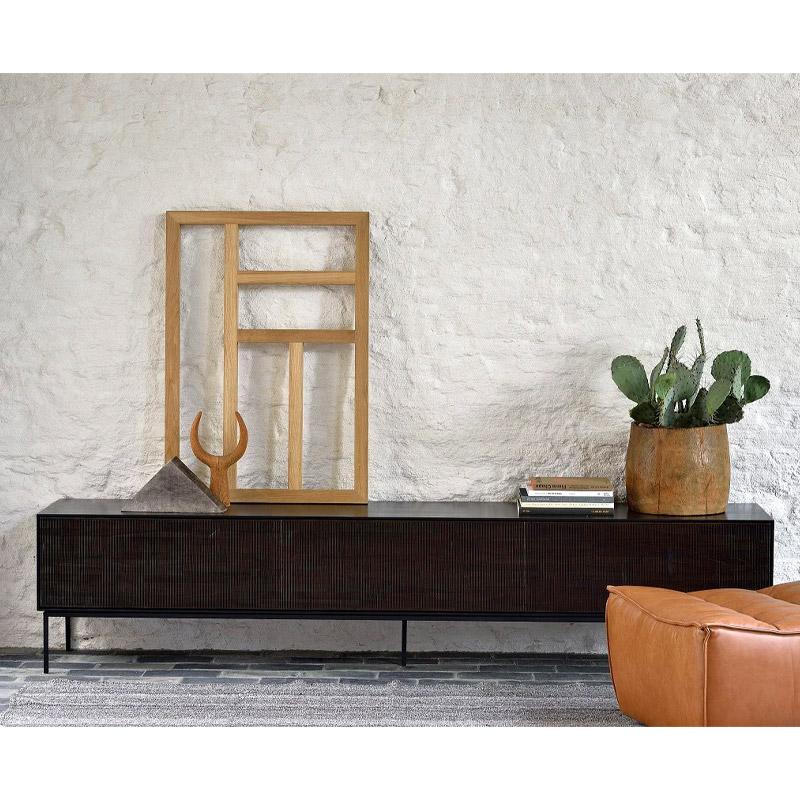 Ethnicraft-Teak-Grooves-tv-meubel-242cm-4